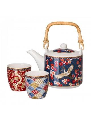 Teiere Teiera in Porcellana 0,6 LT + 2 cup