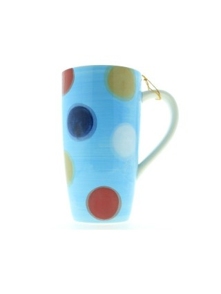 Cup Mug Big Pois Blue